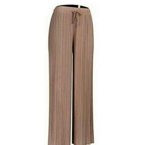 NWOT Accordian Pleated Wide Leg Pants